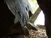 Vchod do jeskyně Komora