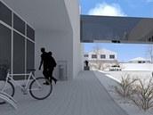 Vizualizace okolí nemocnice a areálu Tesly