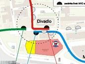 Návrh řešení dopravní obslužnosti po zrušení autobusového nádraží v Ústí nad