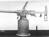 6 pdr QF kanon, který tvořil výzbroj tanku Mark I