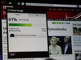 Zásadní novinka ve verzích mobile a mini. Ovládací panel pro funkci Opera