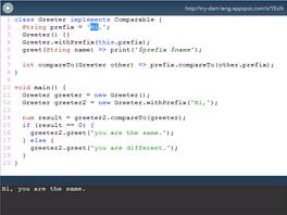 Části zdrojového kódu můžete snadno ozkoušet a sdílet s ostatními. Později bude