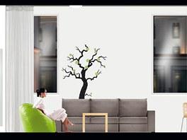 Návrh obývacího pokoje, stěna s okny