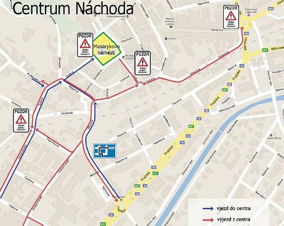 Změny v dopravě v centru Náchoda
