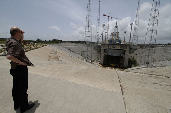 Kosmodrom v Kourou, Francouzská Guyana: stavba odpalovací rampy pro ruské