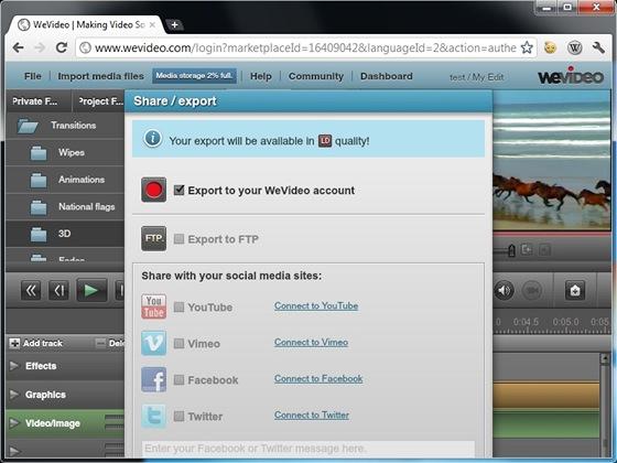 Připravené video lze sdílet s dalšími uživateli nebo rovnou nahrát na servery