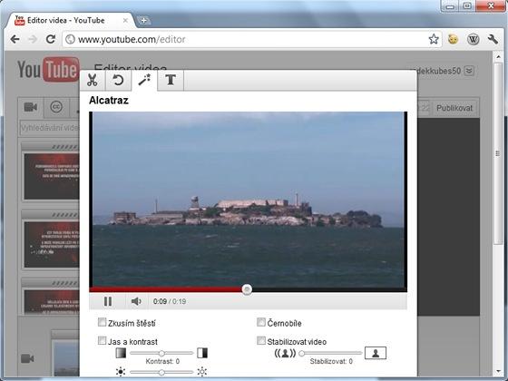 Před vystavením videa na YouTube jej můžete vylepšit střihem, úpravou jasu a