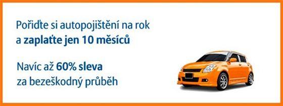 Autopojištění - 2 měsíce zdarma