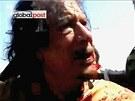 Muammar Kadd�f� v rukou libyjsk�ch rebel� (21. ��jna 2011)