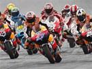 Startovní pole MotoGP při velké ceně Malajsie.