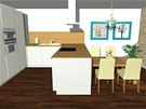 Kuchy�sk� linka je navr�en� velmi prakticky a m� dostatek odkl�dac� plochy.