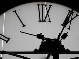 Číselník věžních hodin na rohu Vodičkovy ulice a Václavského náměstí tak, jak