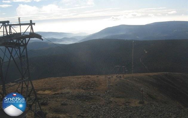 Snímek z horní stanice lanovky na Sn�ku (31. �íjna 2011)