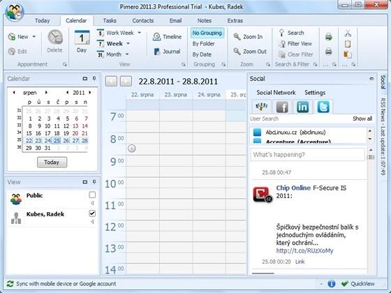 Vedle dalších užitečných funkcí je zajímavostí poštovní aplikace Pimero i
