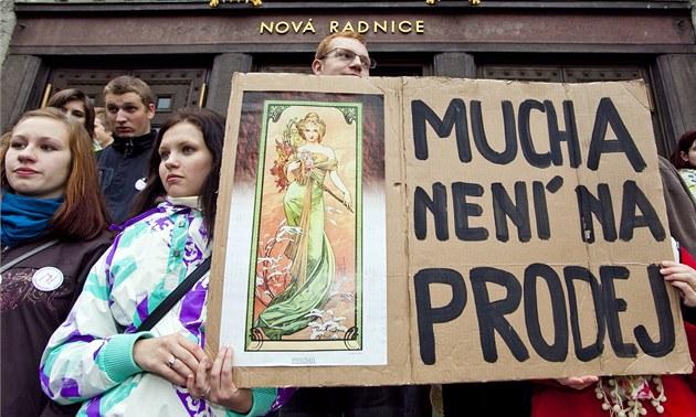 Na Mariánském nám�stí v Praze se 3. listopadu konala demonstrace odp�rc�
