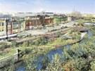 Jedna z vizualizací nabízejících pohled na budoucí nákupní centrum Šantovka.