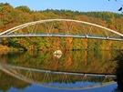 Nový most přes Brněnskou přehradu postavili v roce 2003.