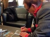 Jan Saudek na autogramiádě v Chrudimi