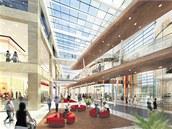 Jedna z vizualizací interiéru nákupního centra Šantovka.