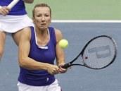 ZKUŠENÁ DEBLISTKA. Květa Peschkeová vrací Ruskám úder ve finále Fed Cupu.