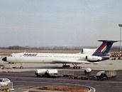 Tu-154 B-2 společnosti Malev zhruba rok před přistáním na břicho v Thessaloniki