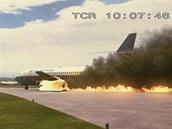 Leteck� katastrofy - ho��c� Boeing 737 p�i letu British Airtours ��slo 28