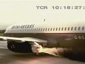 Letecké katastrofy - hořící motor Boeingu 737 při letu British Airtours číslo 28