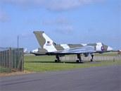 Avro Vulcan F/Lt Martina Witherse, který bombardoval letiště BAM Malvinas