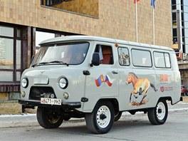 Ruský UAZ je spolehlivé a léty prověřené vozidlo. VMongolsku je obzvlášť