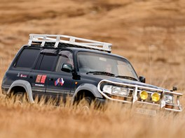 Toyota Land Cruiser je též vhodná do terénu národního parku Gobi B.