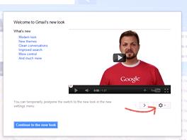 Nový vzhled si může zapnout každý uživatel Gmailu (odkaz vpravo dole po