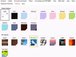 Také nový vzhled můžete ozvláštnit tématy, nově i s obrázky ve vysokém rozlišení