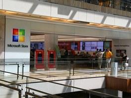 Microsoft Store v obchodním centru Houston Galleria Mall, Texas