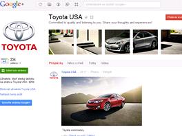 Toyota na svém Google plus profilu využívá známého triku navazujících zmenšenin