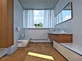 Bílý benátský štuk i doplňky propůjčují koupelně dojem dokonalé čistoty a