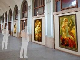 Vizualizace um�st�n� Slovansk� epopeje do Fantovy budovy na hlavn�m n�dra�� v