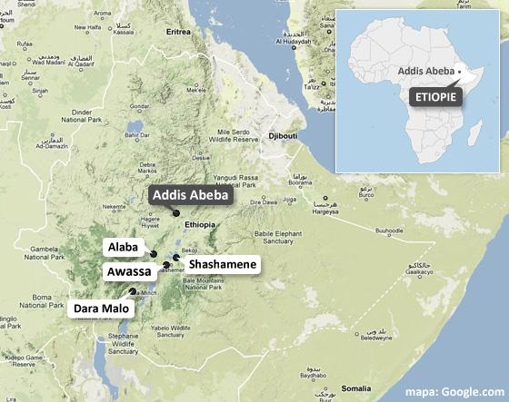 MAPA: Etiopie