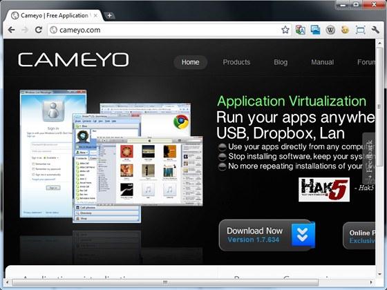 Online služba Cameyo připraví samostatně spustitelný balíček z jakékoli
