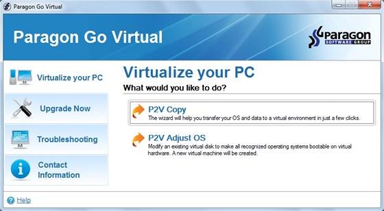 Paragon Go Virtual převede kompletní obsah vašeho počítače na funkční virtuální