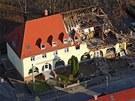 Dům pravicových extremistů ve Cvikově, který vypálila Beate Zschäpe.