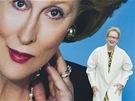 Americká herečka Meryl Streepová u plakátu k filmu Železná lady