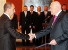 Prezident V�clav Klaus jmenoval na n�vrh p�edsedy vl�dy Petra Ne�ase nov�ho