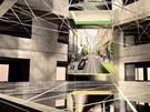 Vizualizace: vítězný studentský návrh konceptu výstavy v nových prostorách FA