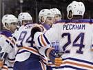 Gólová radost hokejistů Edmontonu Oilers.