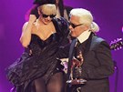 Lady Gaga a Karl Lagerfeld na 63. Bambi media awards ve Wiesbadenu