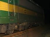 Vykolejená lokomotiva u Rosic nad Labem (17. listopadu 2011)