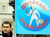 Protesty lékařů na Pernštýnském náměstí v Pardubicích