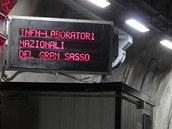 Hlavní vstup do Národní laboratoře Gran Sasso