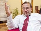 Ministr školství Josef Dobeš (VV) při rozhovoru pro iDNES.cz.