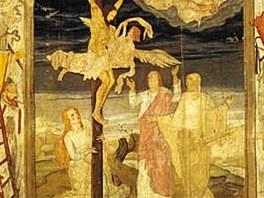 Malé postní plátno. Vystavují ho v žitavském františkánském klášteře.